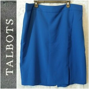 Talbots Side Split Straight Pencil Skirt